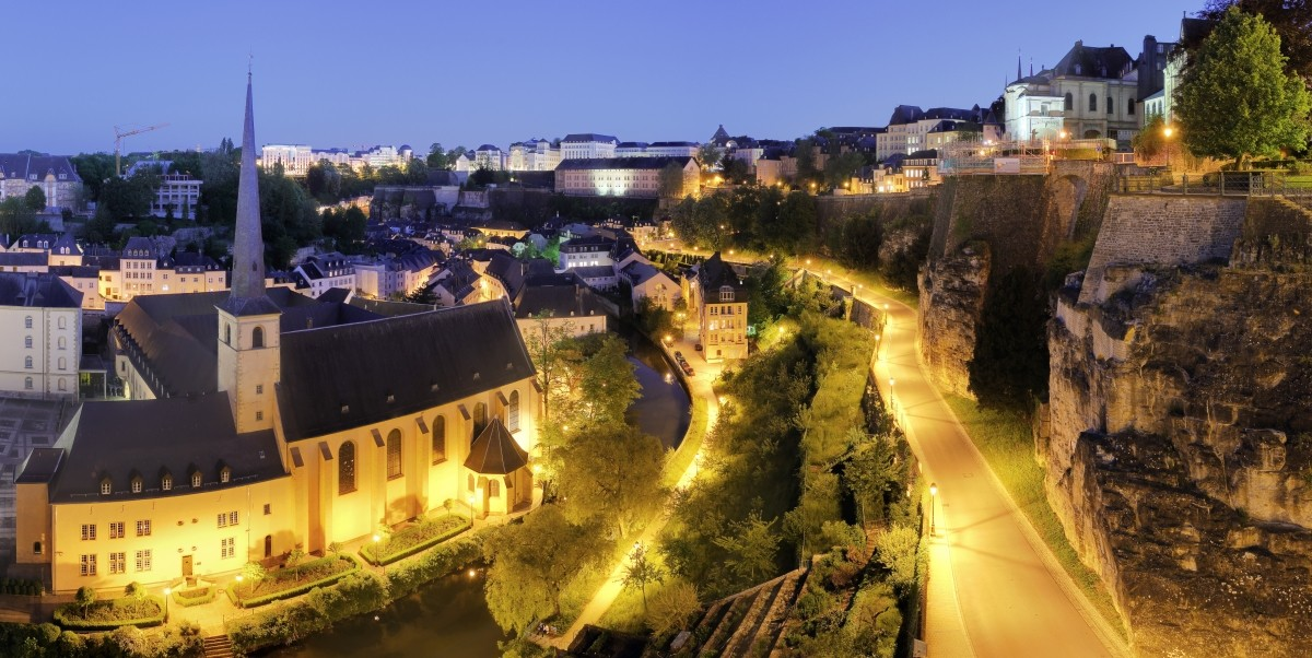 Luxembourg city by night